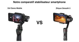Comparatif DJI Osmo Mobile Zhiyun Smooth 3
