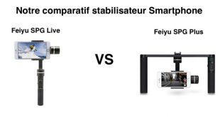 Comparatif Feiyu SPG Live et SPG Plus
