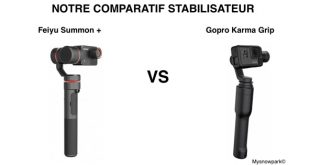 Comparatif Feiyu Summon + Gopro Karma Grip