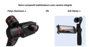 Comparatif Feiyu Summon + et DJI Osmo +
