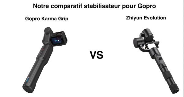 Comparatif Gopro Karma Grip Zhiyun Evolution