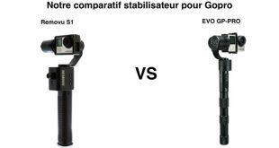 Comparatif stabilisateur Gopro Removu S1 EVO GP PRO