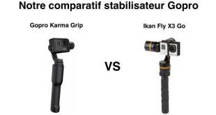 Comparatif Gopro Karma Grip Ikan Fly X3 Go