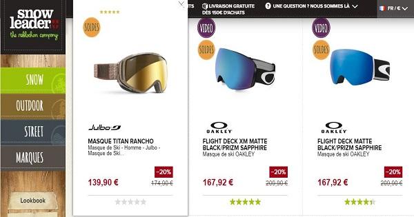Combien coûte un masque de ski - Snowleader