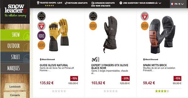 Combien coûtent des gants de ski -Snowleader