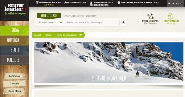 Où acheter des chaussures de snowboard - Snowleader