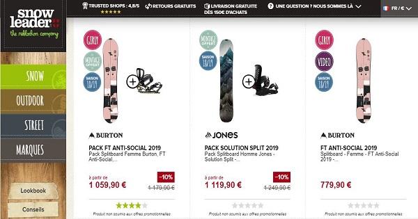Où acheter un snowboard - Planche - Snowleader