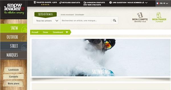 Où acheter un snowboard sur internet - Snowleader