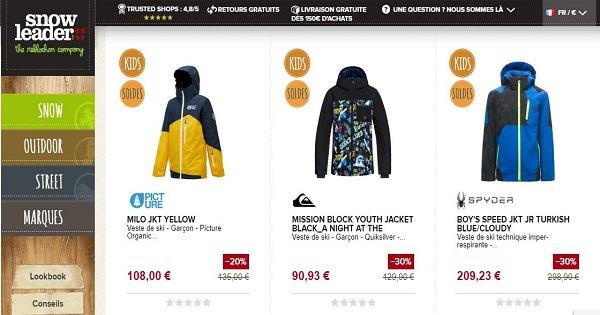 où acheter une veste de ski pour enfant - Snowleader