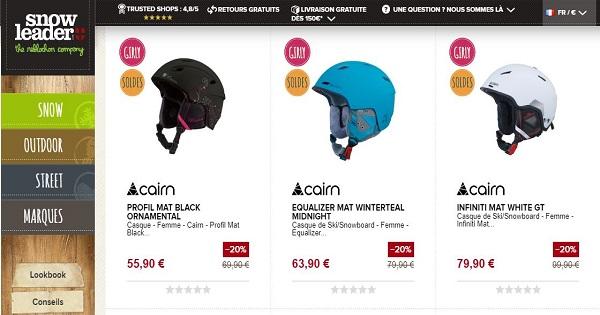 Avis sur les casques Cairn femmes - Snowleader