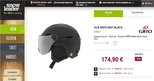 Avis sur les casques GIRO - VUE MIPS MAT BLACK Snowleader.