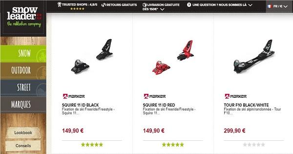 Avis sur les fixations de ski Marker - acheter chez Snowleader