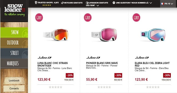 Avis sur les masques Julbo pour femmes - Snowleader