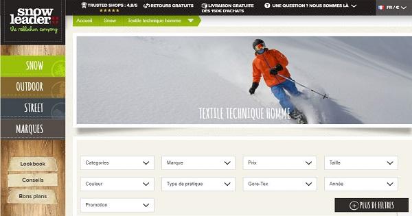 Où acheter des vêtements techniques pour le ski - Snowleader