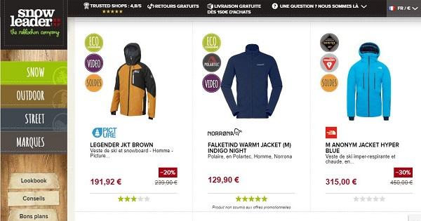 Où acheter des vêtements techniques pour le ski - Veste Snowleader.JPG