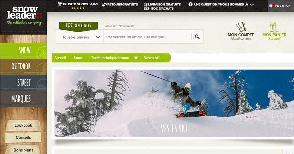 Où acheter une veste de ski pour hommes - Snowleader