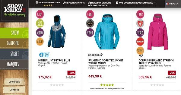 où acheter une veste de ski pour femme - Snowbord
