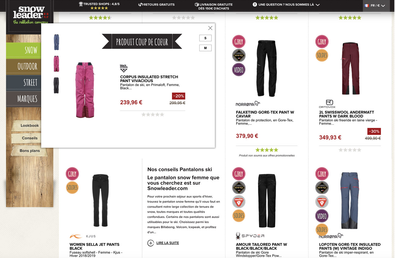 Acheter un pantalon de ski pour femme