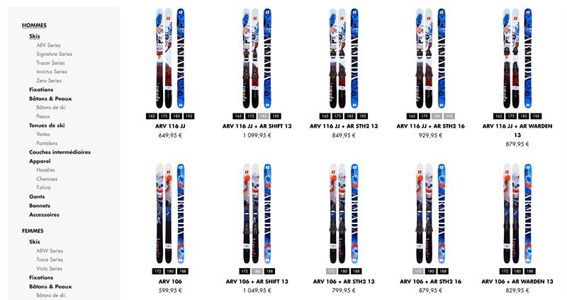 Prix skis Armada