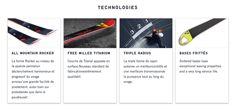 Technologies skis Fischer